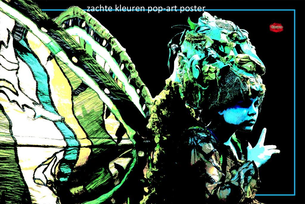 Zachte kleuren pop-art poster